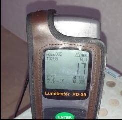 クロスコーティグ施工後の測定値